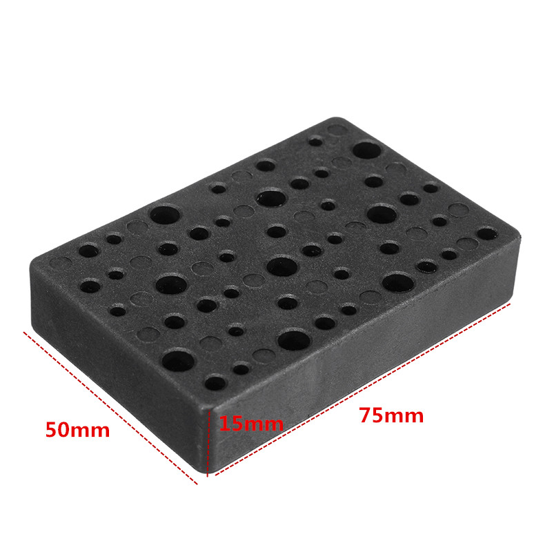 Hilda Electric 48 Holes Drill Bit Storage Block Box Case for Dremel Rotary Tool Accessories
