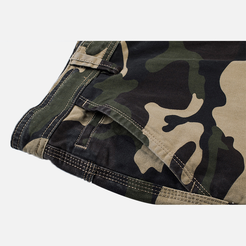 Men Camouflage Multi Pockets Military Outdoor Relaxed Shorts
