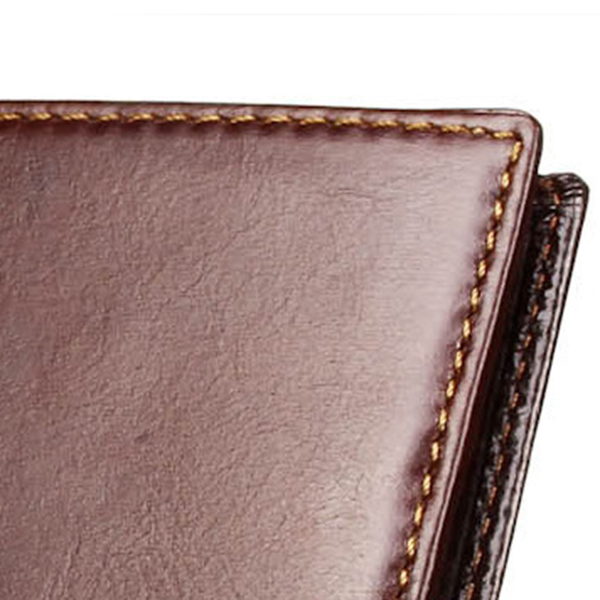 Genuine Leather Fashion Business Long Wallet 11 Card Slots Card Holder Purse