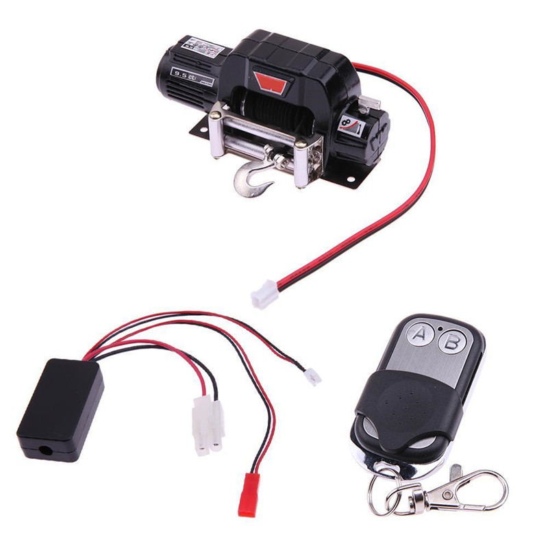 RC Crawler Car Parts Winch Wireless Remote Control Receiver Set For Traxxas Hsp SCX10 D90