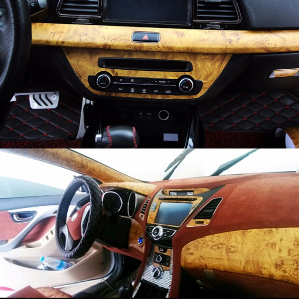 9X60inch Birds Eye Wood Grain Textured Vinyl Wrap Sticker Decal Sheet Film For Car Home Decoration