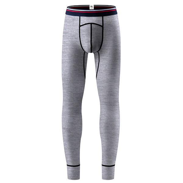 Mens Elastic Thin Mid Rise Slim Cotton Casual U Convex Long Johns Sleepwear Pajamas Bottoms