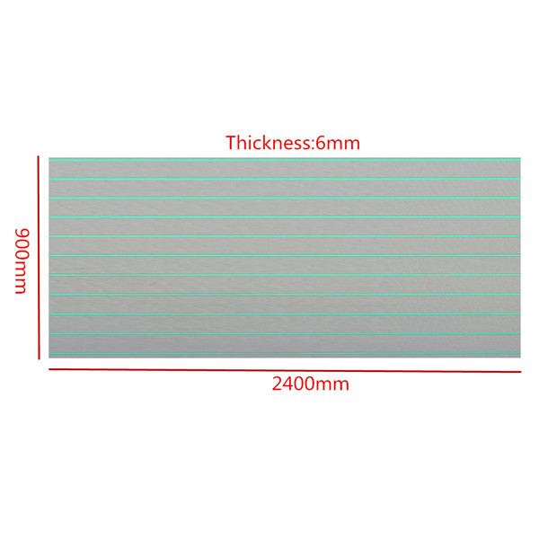 2400x900x6mm Marine Flooring Faux Teak EVA Foam Boat Decking Sheet Gray and Green