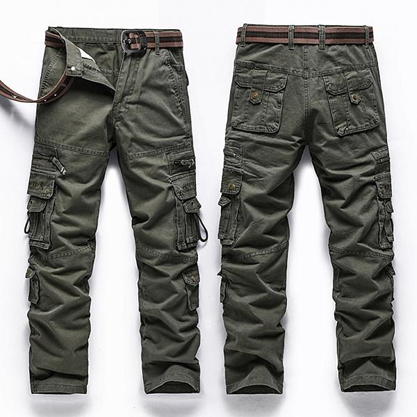 Military Multi Pocket Cotton Long Pants