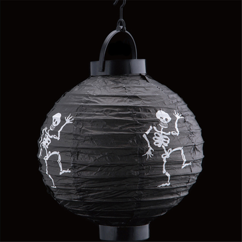 Halloween Party Home Decoration Luminous Paper Portable Lantern Pumpkin Lights Horror Scene Toys