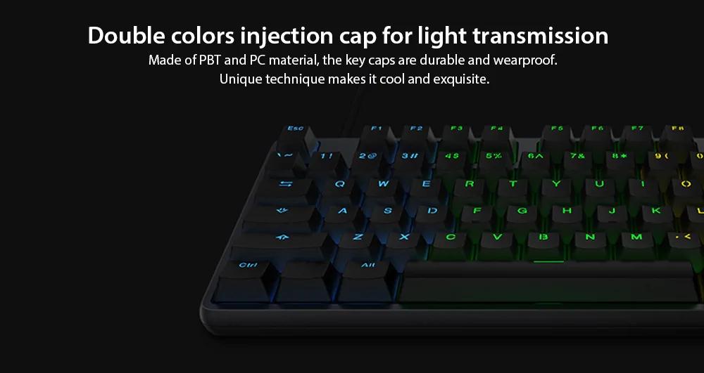 Xiaomi RGB Backlight 104Keys Gaming Keyboard Aluminum Alloy USB Wired Keyboard