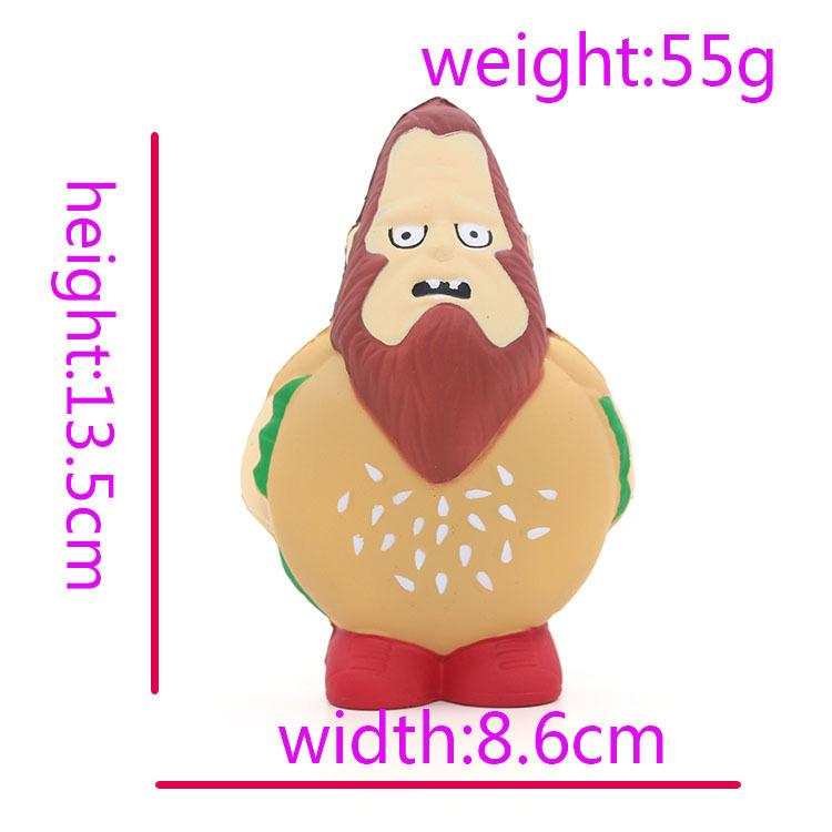 Burger Man Squishy 12.5CM Hamburger Funny Jumbo Slow Rising Rebound Toys With Packaging