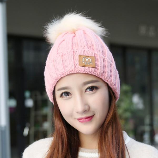 Fashion Women Winter Ski Knit Beanie Hat Skull Cap