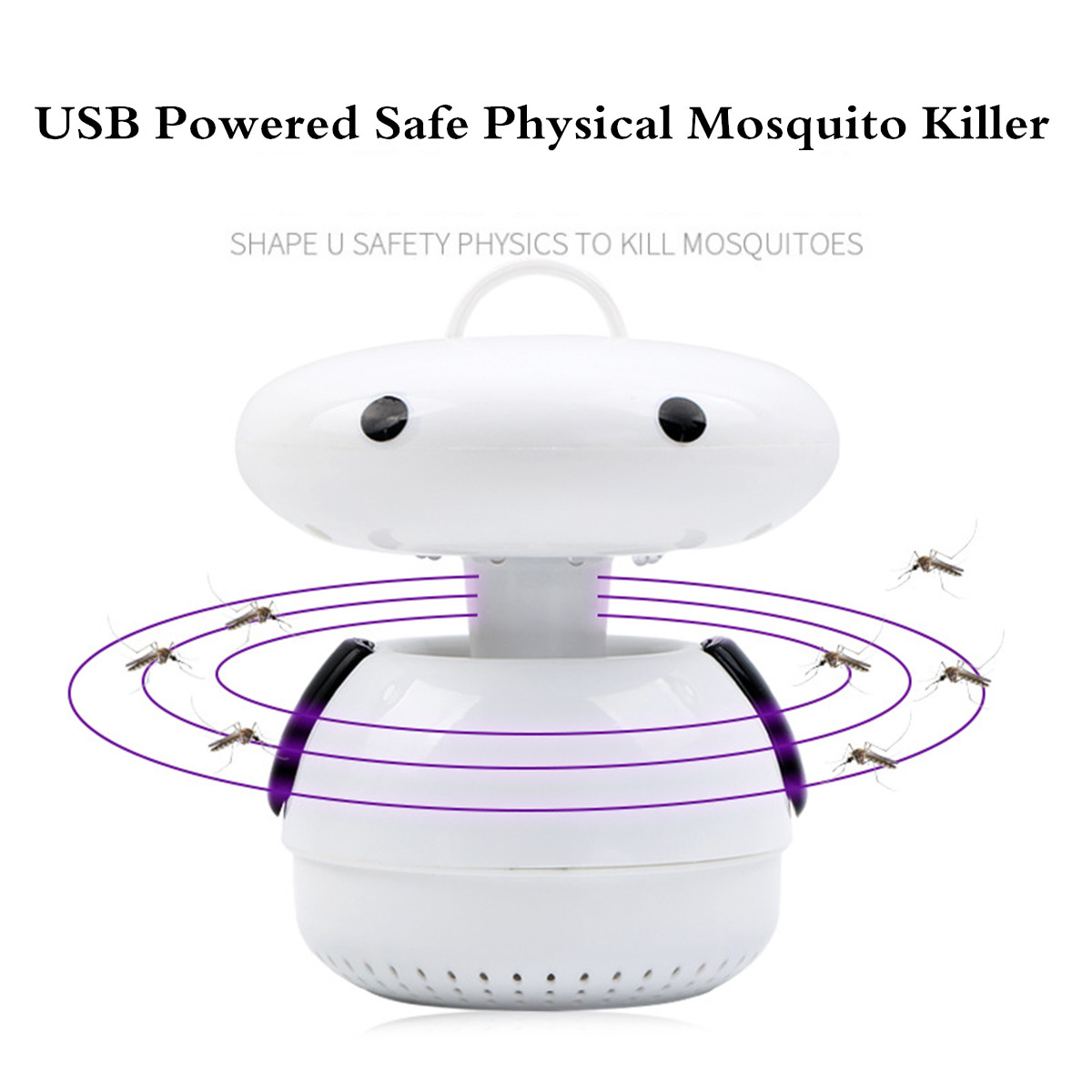 5V LED USB Mosquito Dispeller Repeller Mosquito Killer Lamp Bulb Electric Bug Insect Zapper Pest Trap Light For Yard Outdoor Camping