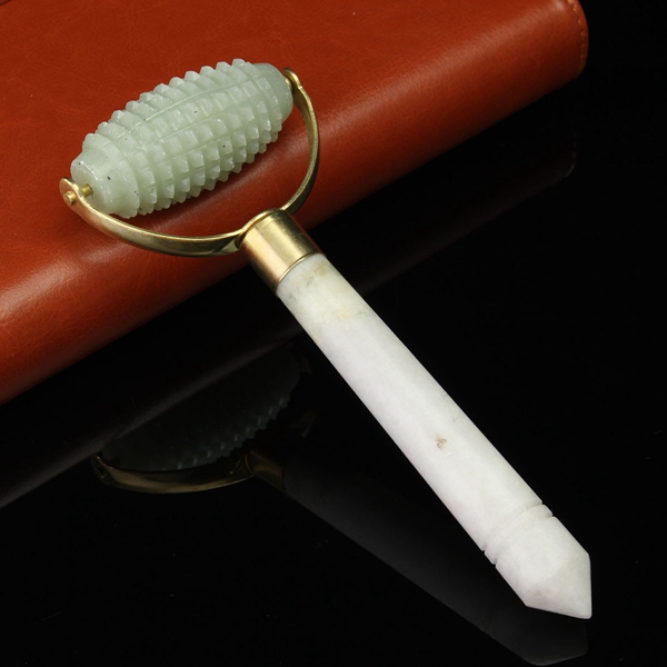 Facial Massage Roller Acupressure Acupoint Stick Natural Jade Anti Wrinkle Massager Beauty Tool