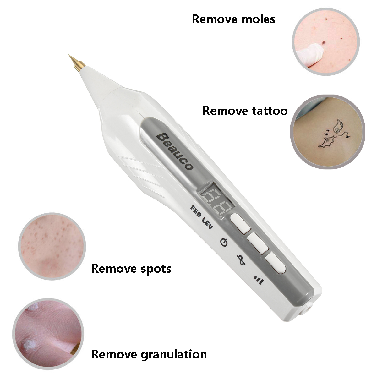 Portable Laser Freckle Dot Mole Sweep Dark Spot Tattoo Removal Pen Beauty Skin Machine