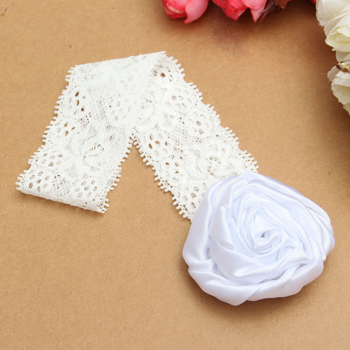 Baby Newborn Kids Girls Photography Soft Wrap Hair Band Elastic Flower Lace Elastic Band Head Accessories Gift