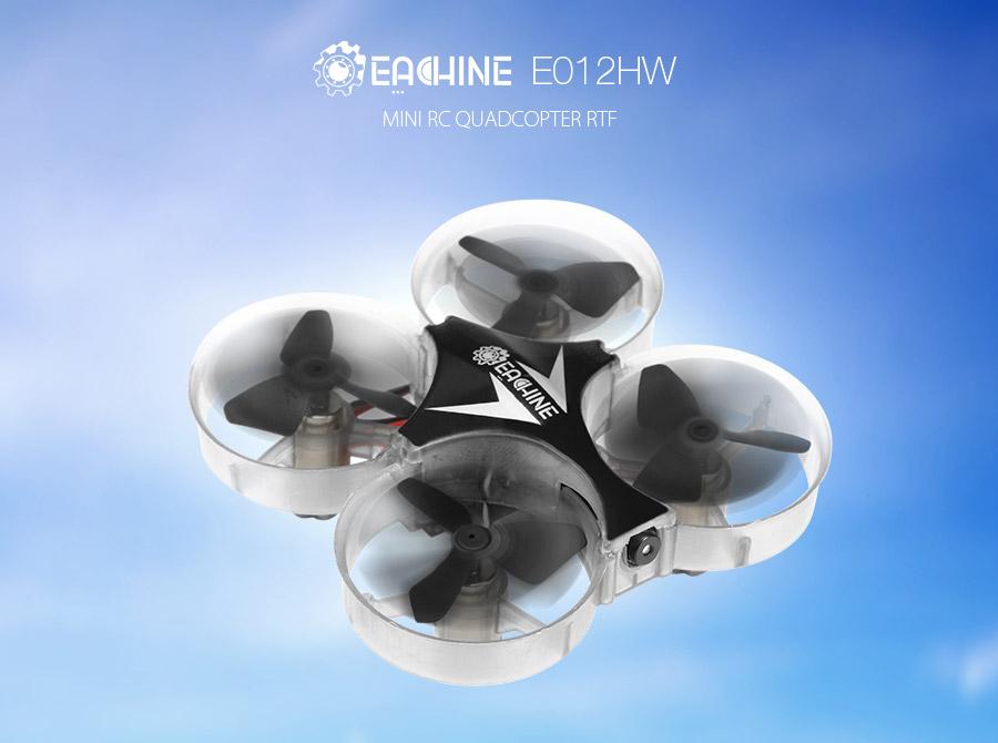 Eachine E012HW Mini WIFI FPV With Altitude Mode 2.4G 4CH 6 Axis RC Drone Quadcopter RTF