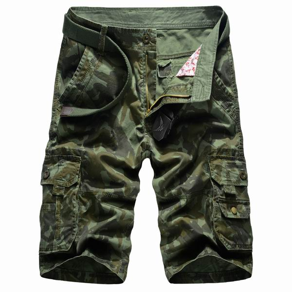 Summer Mens Cotton Camouflage Multi Pockets Casual Cargo Pants