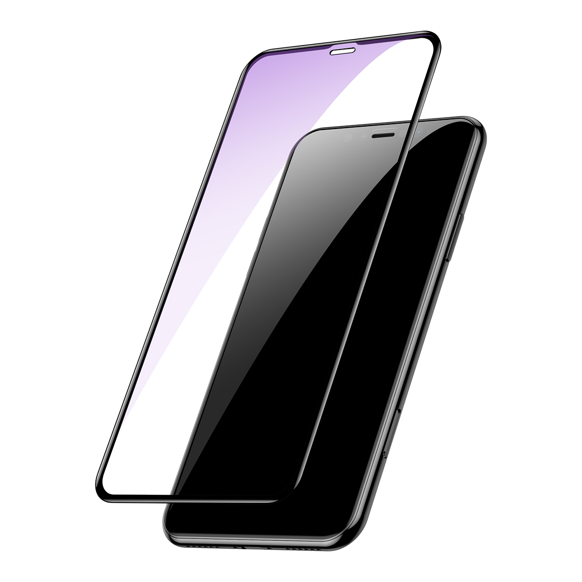 Baseus 0.2mm Full Screen Arc Surface Clear/Anti Blue Light Tempered Glass Screen Protector For iPhone XR