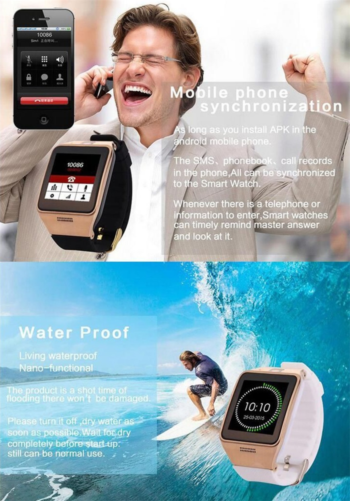 LG128 1.3MP Camera Remote Capture GPS Tracker Locator Monitor Waterproof bluetooth with NFC Support SIM Card