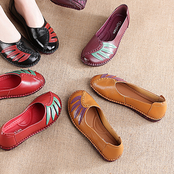 Women Leather Handmade Flat Loafers