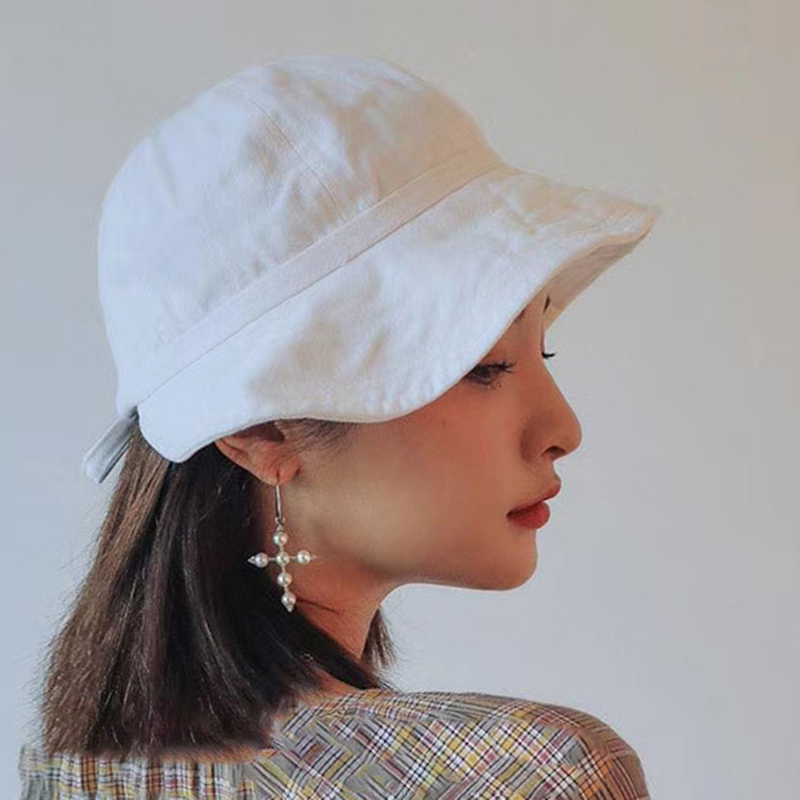 Womens Adjustable Bandage Sunshade Cap Bucket Hat Visor