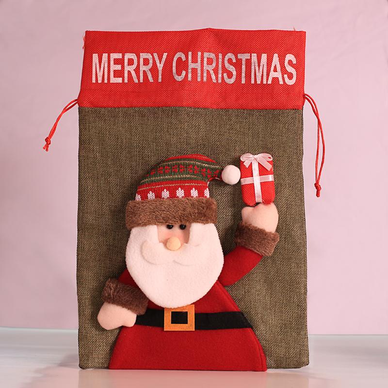Large Christmas Santa Claus Sack Snowman Children Christmas Gifts Candy Stocking Bag