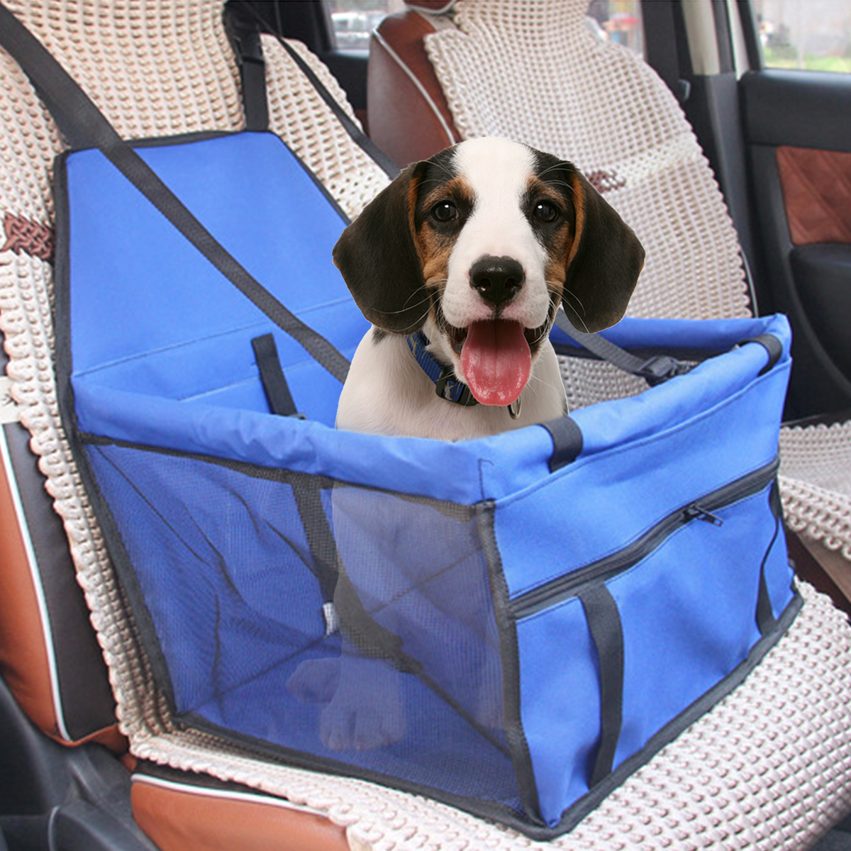 600D Oxford Dog Car Seat 45cm Booster Cover Waterproof Pet Mat Basket Carrier Travel Portable