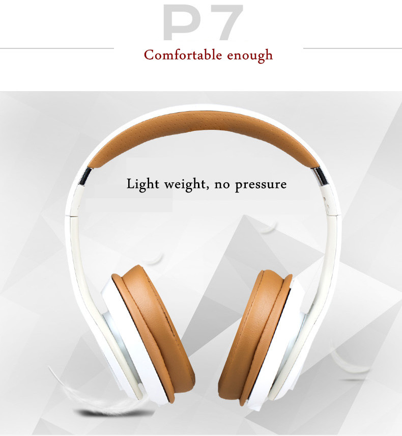 SOMIC P7 Portable Foldable Vibration Control Stereo Wired Control Headphone Headset With Mic