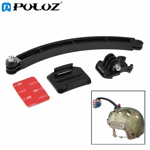 PULUZ Outdoor Motorcycle Cycling Helmet Extension Arm M