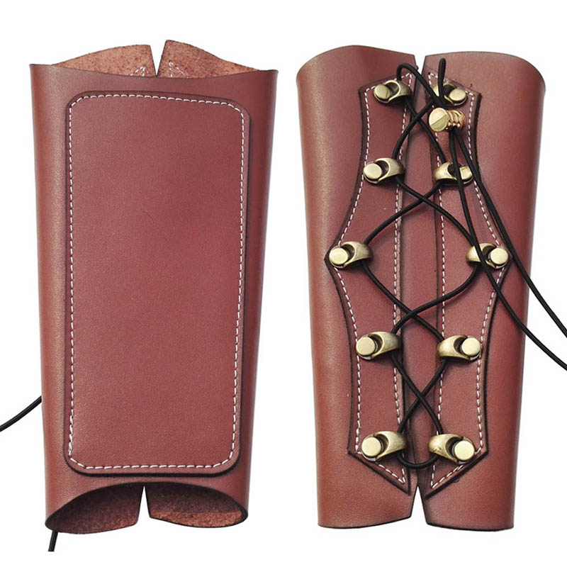 Archery Arm Guards Bracer Necessary Genuine Leather Armguard For Adults Hunting Archery Accessories