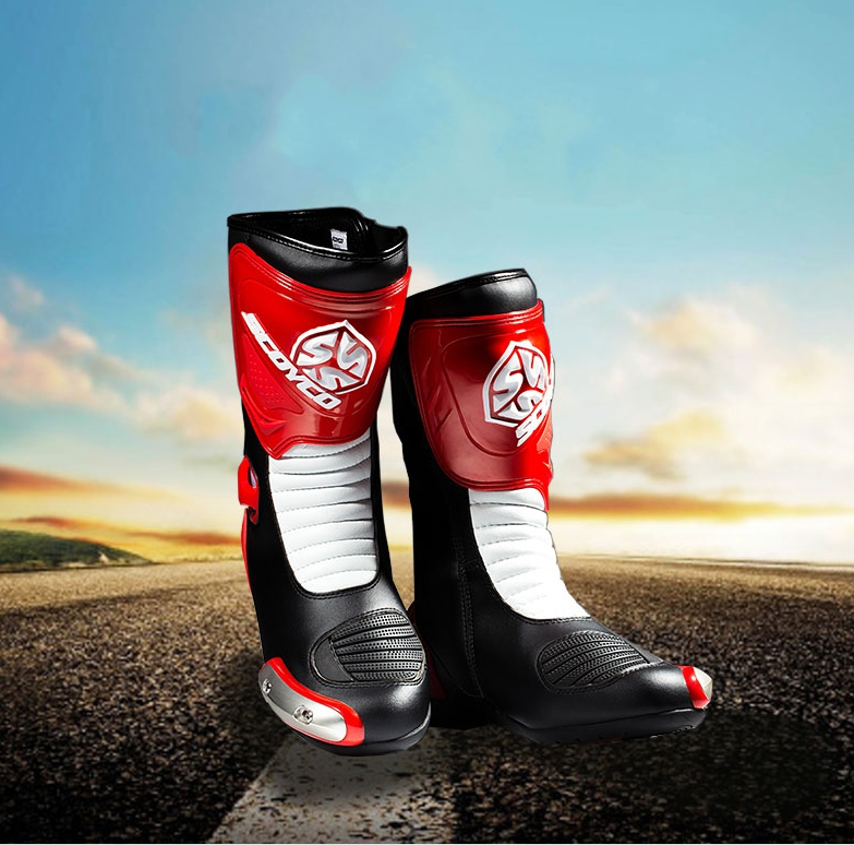 Motorcycle Middle Boots Motocross Riding Racing Protective Shoes Scoyco MBT004