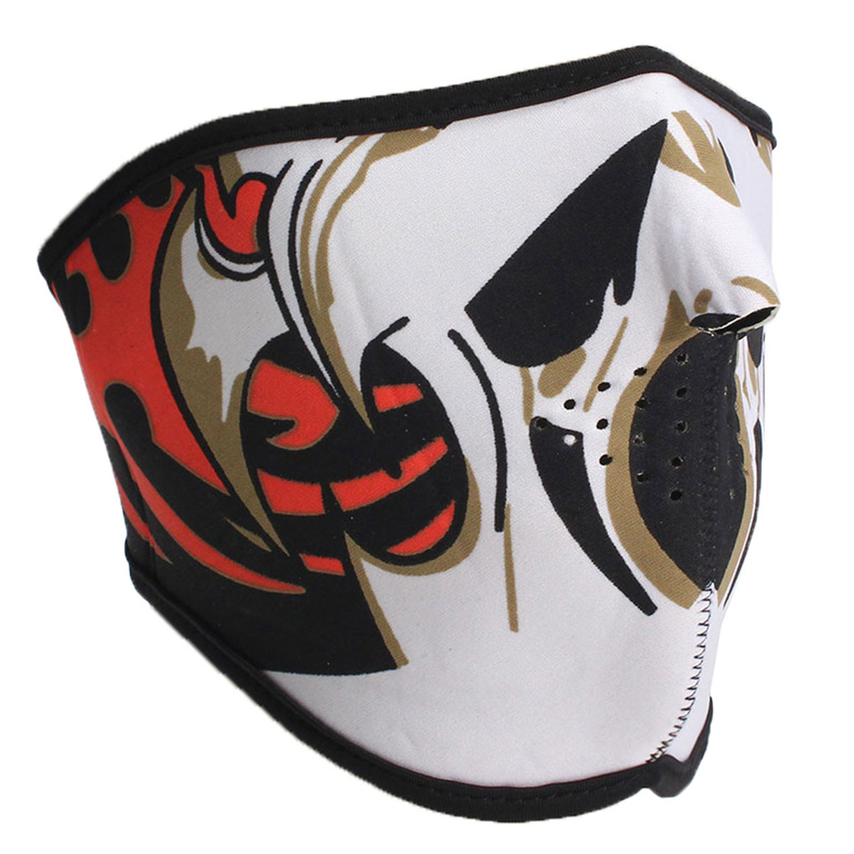 Half Face Mask Scary Skull Sports Reversible Biker Skateboard Motorcycle