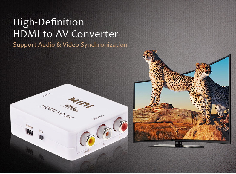 EKL 1080P HDMI To AV CABS RCA Video Adapter Converter for AV HDTA Projectors
