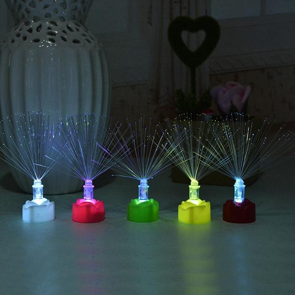 Colorful Changing Fiber Optic LED Night Light Desk Lamp Children Toy Home Garden Decor