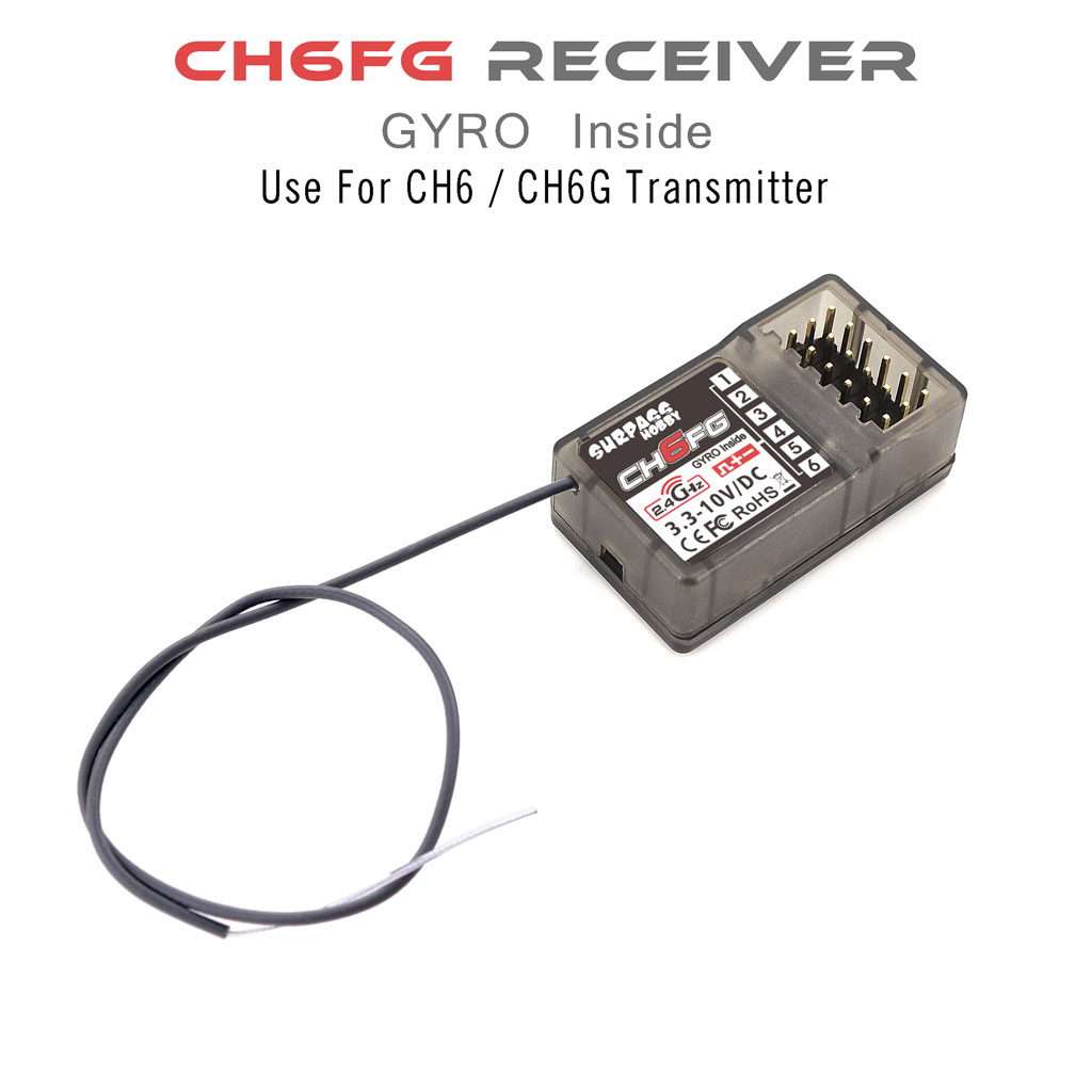 Surpass Hobby 6CH Transmitter with X6FG Gyro Receiver For RC Car Tank Model