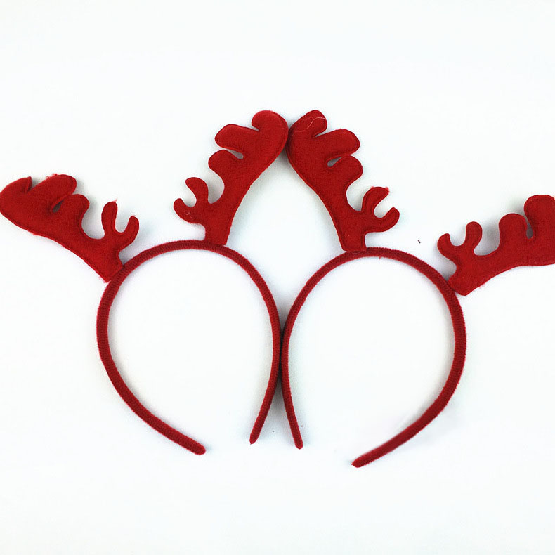 Christmas Headband Reindeer Antlers Ear Hair Hoop Christmas Party Hair Accessories Deer Hair Buckle Decoration