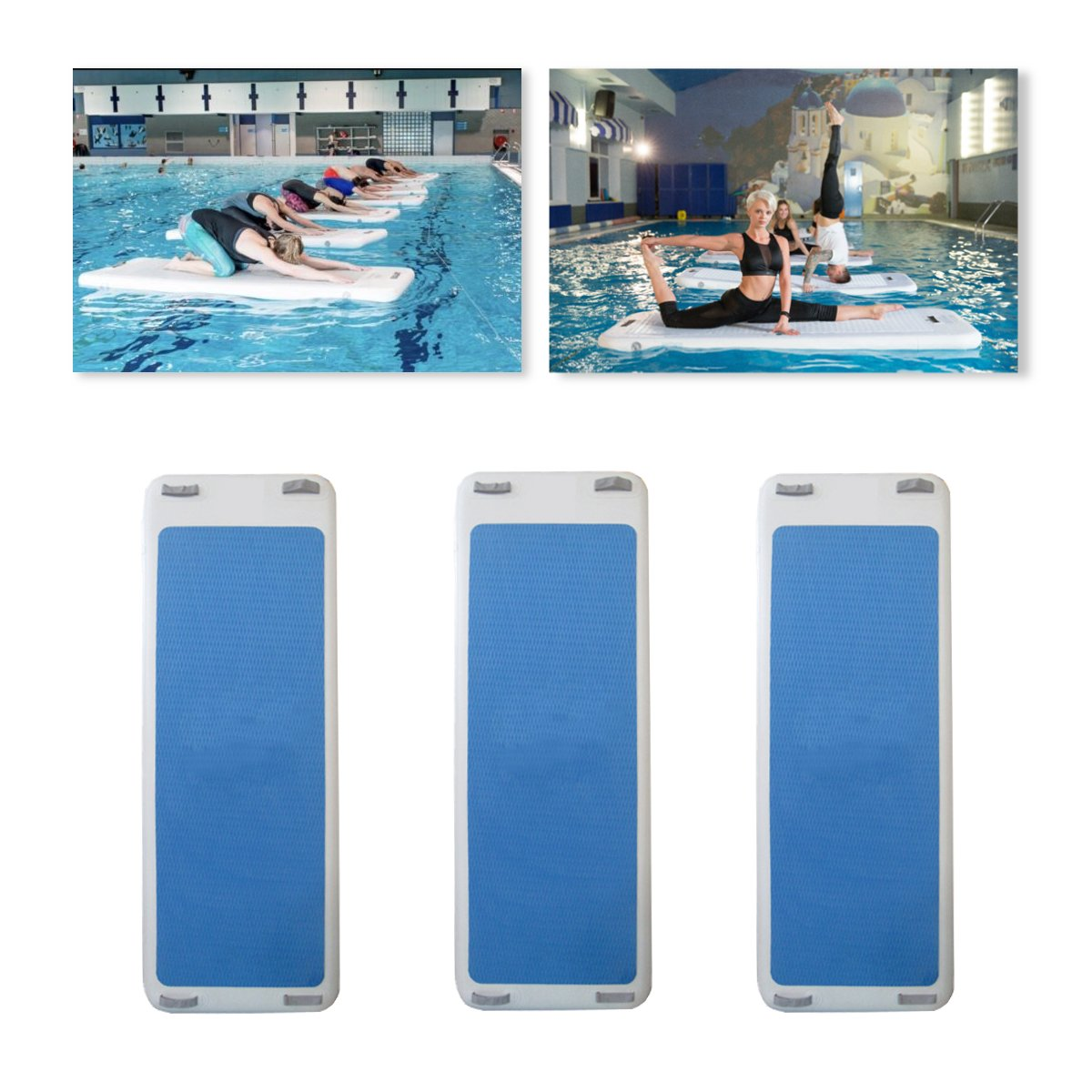 79x24x4inch Inflatable Floating Yoga Mat Air Tumbling Track For Gymnastics SUP Paddle Board