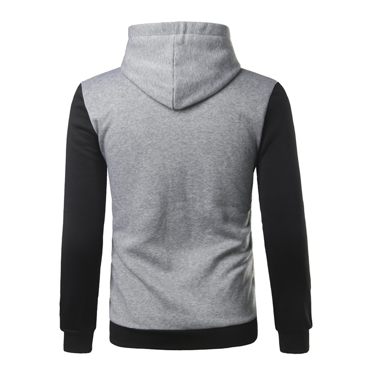 Autumn Fashion Color Spell PU Leather Hoodies Men's Casual Hip-Hop Sport Hooded Tops