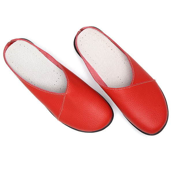 US Size 5-12 Pure Color Soft Sole Casual Round Toe Slip On Flat Shoes