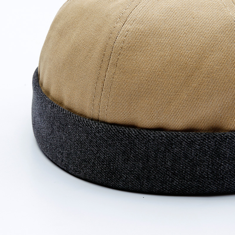 Mens Retro Adjustable Washed Cotton Round Beanie Caps