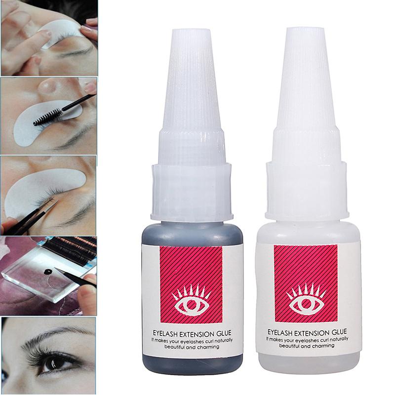 2 Colors Long Lasting Sticky Glue False EyeLashes Extension 15ml
