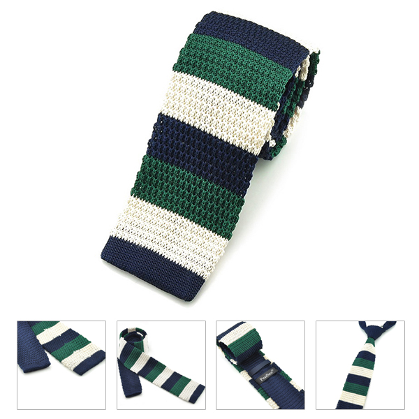 PenSee Men's Neckties Casual Thick&Thin Stripe Plaids Slim Skinny Knitting Tie
