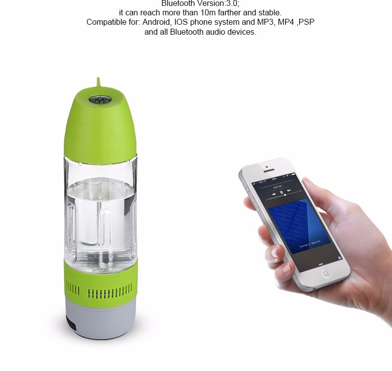 Water Bottle Mini Wireless bluetooth Portable Cup Compass Speaker Outdoor