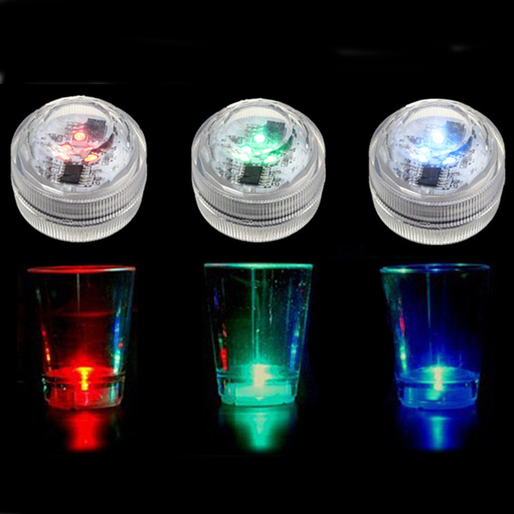 Waterproof Mini LED Colorful Round Candle Under Water Light Lamp