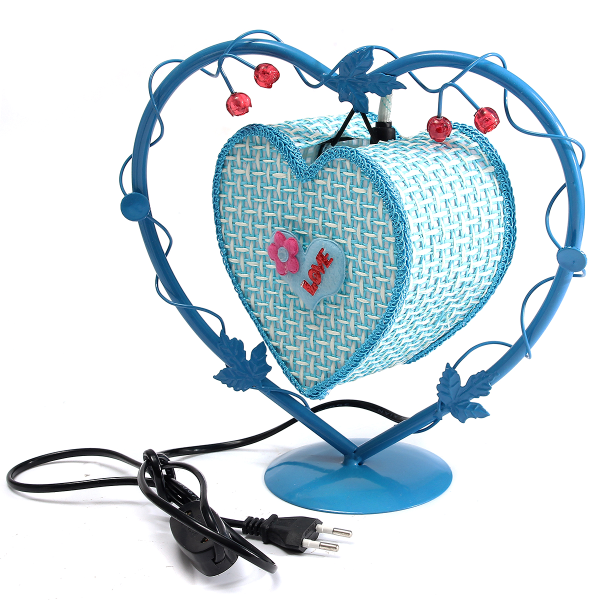 Vintage Artificial Light Love Heart Antique Table Lamp Gift Room Decor