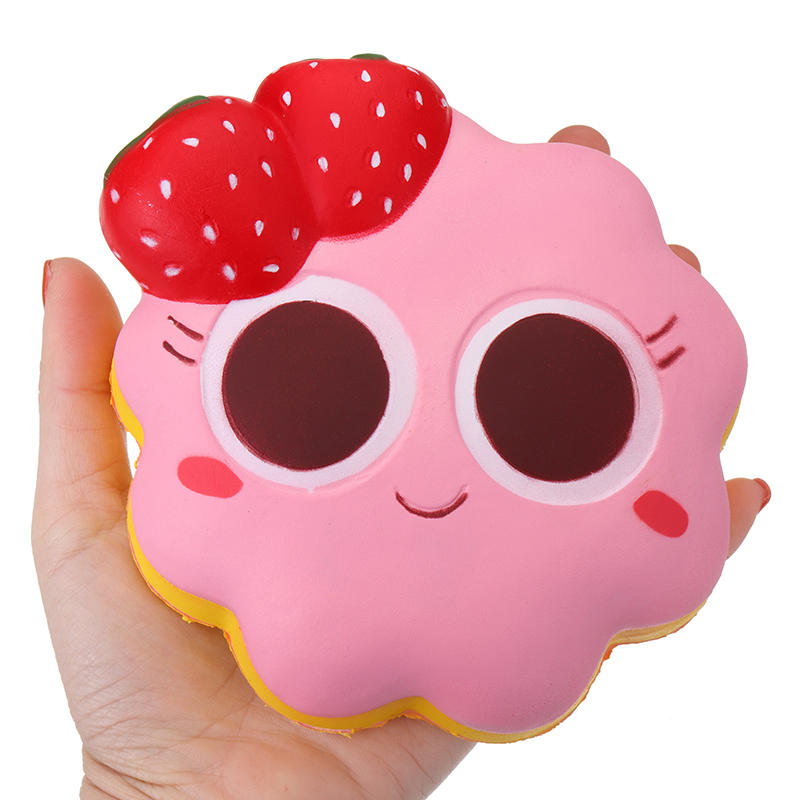 Taburasa Strawberry Facial Expression Cake Squishy 14cm Slow Rising With Packaging Collection Gift