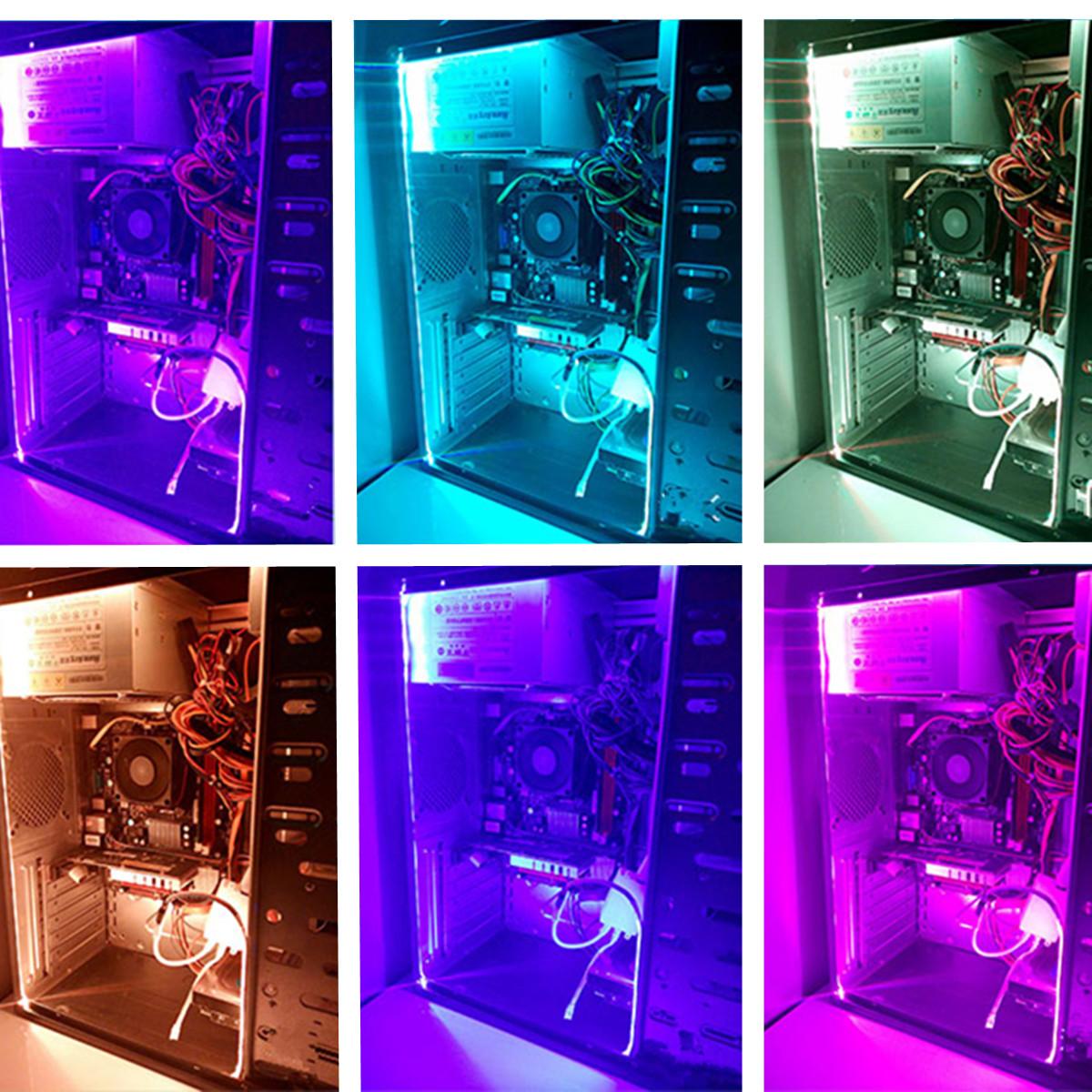 2PCS 50CM 5050 SMD 17 Keys Remote Control LED Strip Lighting for Home Decoration