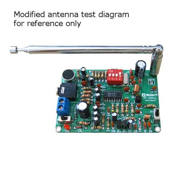EQKIT® FM Stereo Transmitter Module MP3 Recorder DIY Radio Station Kit