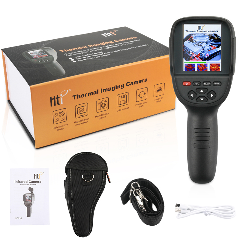 HT-18 220x160 Handheld Infrared Thermal Camera Thermograph Camera Digital Temperature Tester Buit-in 4G Memory with 3.2inch TFT Display Screen NEW