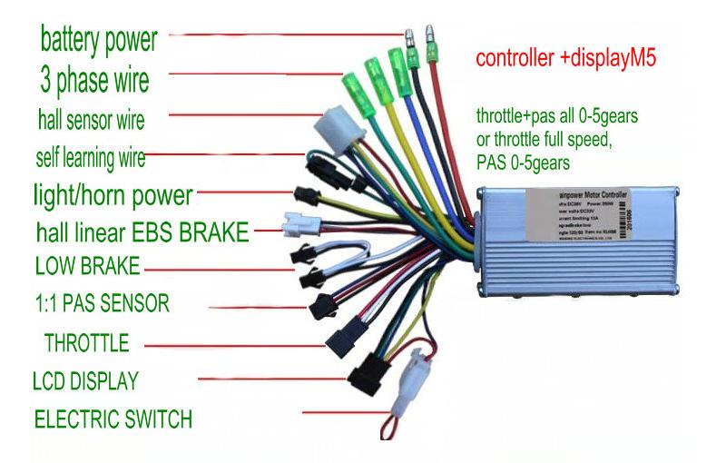 24V/36V/48/60V 250W/350W Brushless Controller Battery Speed LCD Instrument For MTB E-Bike Scooter