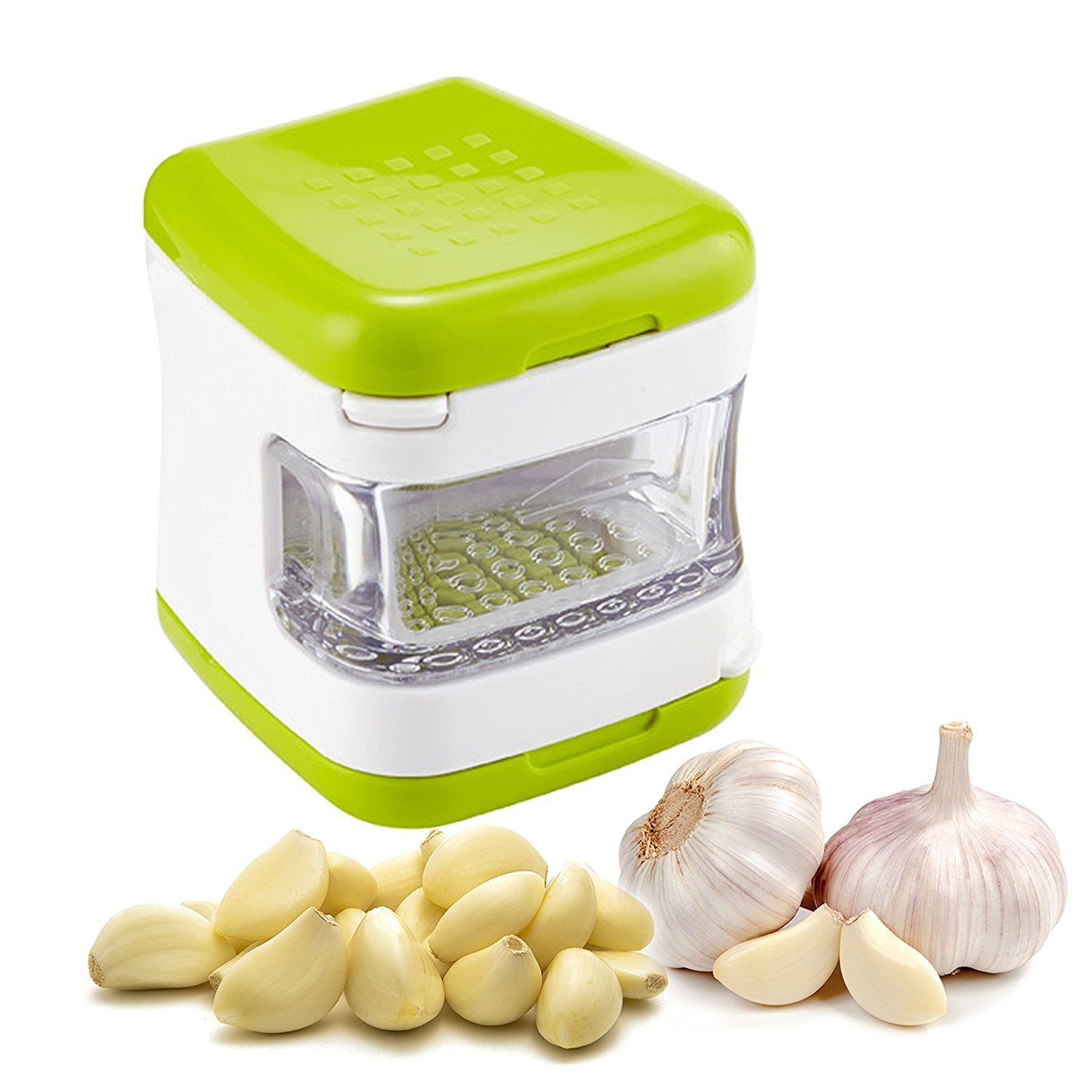 KCASA KC-GS067 Stainless Steel Blade Garlic Press Presser Crusher Onion Chopper Mincer Slicer Grater