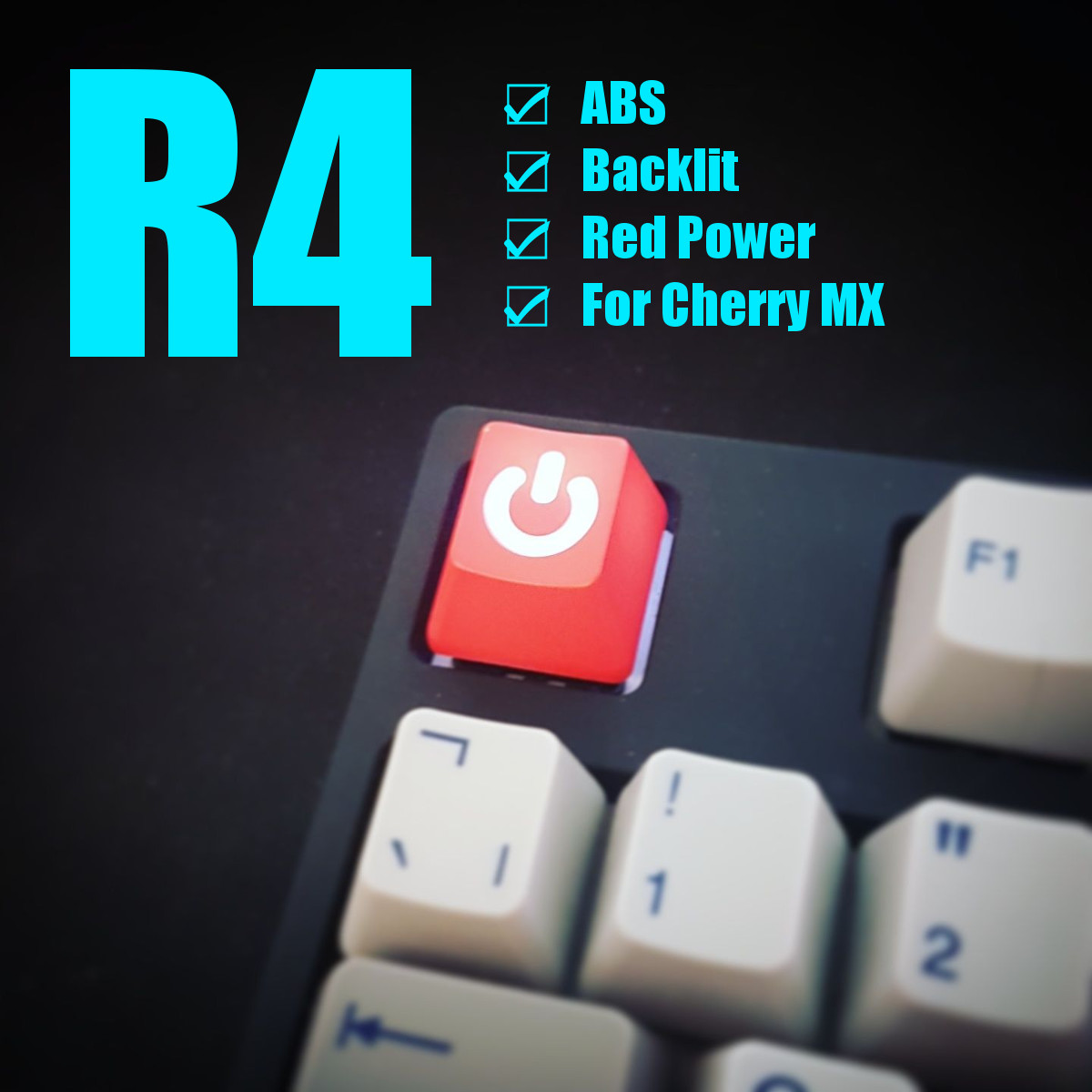 Red Power ESC R4 ABS Translucent Backlit Keycap Key Caps for Mechanical Gaming Keyboard