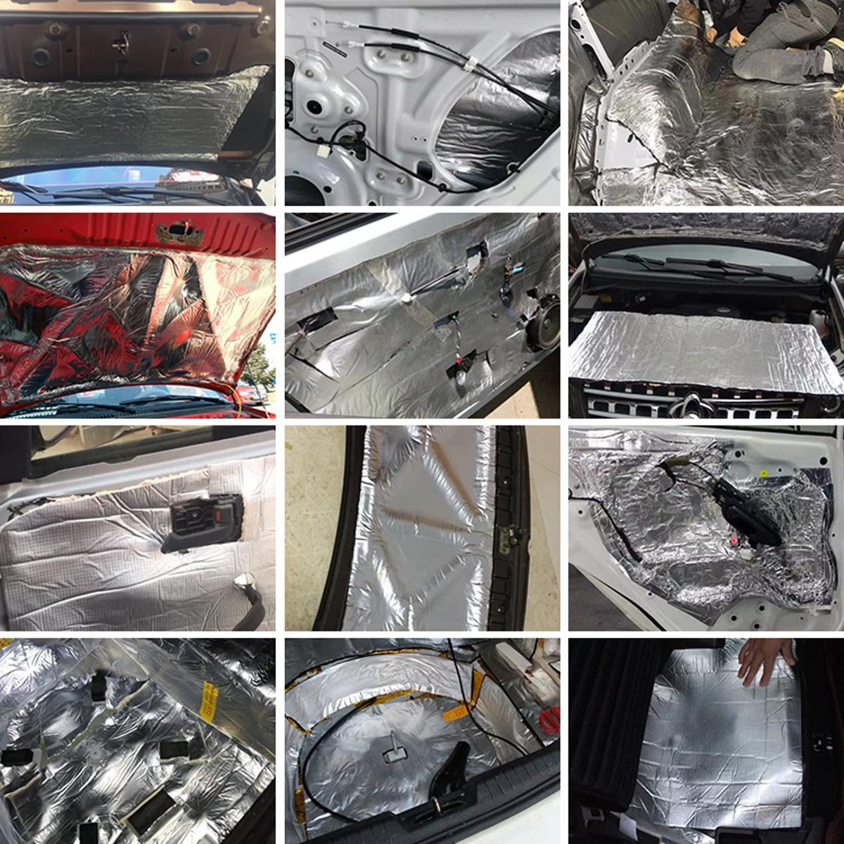 10mm Car Deadener Heat Sound Proofing Insulation Hood Exhaust Muffler 100x140cm